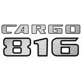 Kit Emblemas Adesivo Resinado Ford Cargo + 816 Mod. Novo