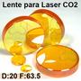 Lente Laser Co2 Corte Grabado D 20mm F 63.5mm Pantografo Cnc