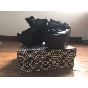 Zapatos Paruolo Cuero Negros Para Fiesta Nuevos En Caja