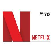 Cartão Netflix R$ 70 Reais