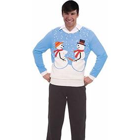 Pareja Foro Novedades Nieve Adulto Feo Suéter De La Navidad