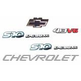 Kit Emblemas S10 Deluxe 4.3 V6 + Faixa Prata - Até 2000
