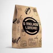 Saco Embalagem Kraft Pequeno P/ Delivery Hambúrguer 400 Unid