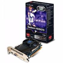 Placa De Video Sapphire Radeon Hd 6670 1gb Ddr3 128 Bits