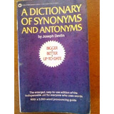 Libro - Diccionario - Dictionary Synonyms & Antonyms Ingles