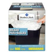 Bolsas Para Basura Member's Mark Medianas 500 Pzas