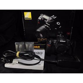 Câmera D90 + 2 Baterias + Carregador