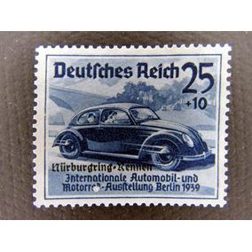 Selo Alemanha Reich 1939 C/sob Novo Tema Carro Fusca