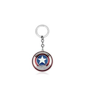 Chaveiro Escudo Capitão América Prata Vingadores Marvel Hero