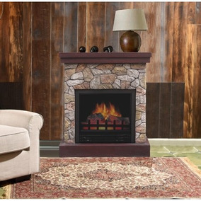 chimenea elctrica decor flame de 26 - Chimeneas Rusticas