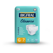 Fralda Bigfral Clássica Tamanho G - 7 Unidades