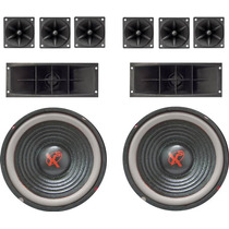 Combo Kit 2 Woofers De 10 + 6 Tweeters + 2 Bocinas