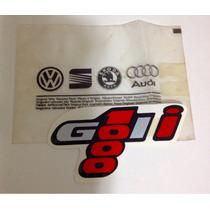 Emblema Adesivo Gol 1000 I Original Vw Vermelho G2 94 / 96