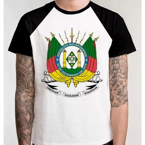 S/frete Camiseta Raglan Blusa Camisa Brasão Rio Grande Sul