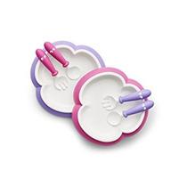 Placa Babybjorn Bebé, Cuchara Y Tenedor - Rosa / Púrpura, 2