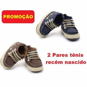 2 Botas Tênis Bebezinho Calçado 0 A 4 Mês 12x S/juros Oferta