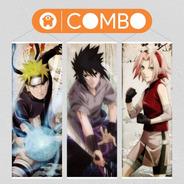 Lonas De Naruto Equipo 7 Original X 3  - Animeras