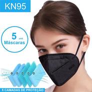 Kit 5 Máscaras Kn95 Proteção 5 Camadas Respiratória Pff2 N95