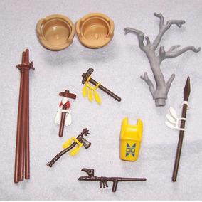 Playmobil Lote De Figuras Y Accesoirios Indios Oeste