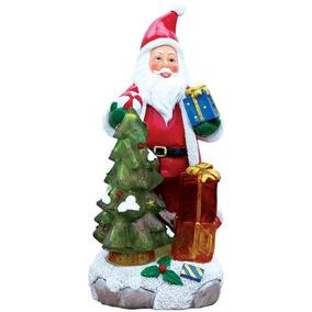 Papai Noel Poly Iluminado E Musica 21cm