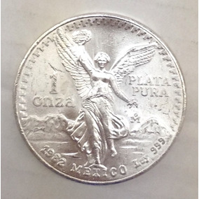 Aaaa Moneda Angel Libertad Mexico 1982 Onza Plata Ms 31g Ml1