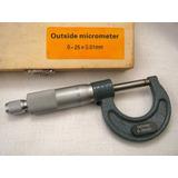 Micrómetro - Instrumento De Medición 0 - 25 X 0.01 Mm