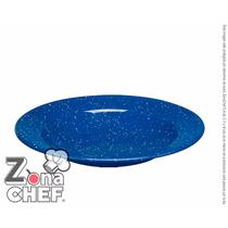 Plato Hondo De Peltre Azul 20 Cm De Diametro