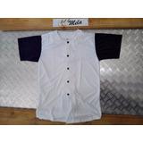 Camisas Baseball Y/o Softball T-16 Blanca Con Azul Marino