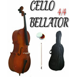 Violonchelo Cello Bellator 4/4 Natural Brillo Con Funda