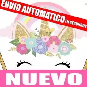 Kit Imprimible Unicornio Dorado Editable Envio Gratis