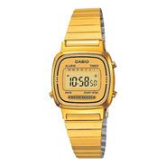 Reloj Mujer Casio La-670wga-9 Dorado Digital / Lhua Store