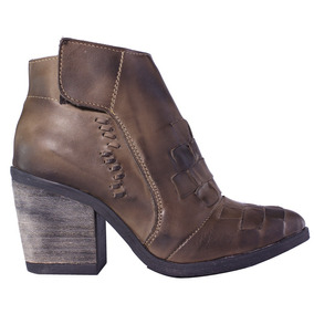 Botinetas Mujer Botas 100% Cuero Taco Alto Tops Zapatos