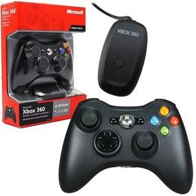 Controle Xbox 360 Com Adaptador Pc 100% Original Microsoft