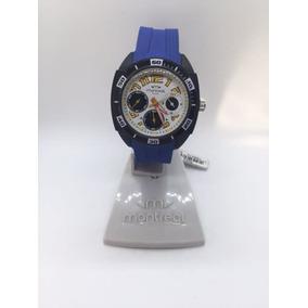 Reloj Hombre Montreal Malla Deportiva Azul -mx