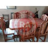 Juego De Comedor (mesa+sillas) 100% Algarrobo