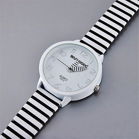 Reloj, Blanco Y Negro, Moderno, Original, Mujer, Fashion.