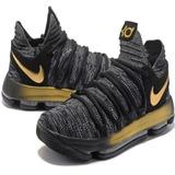 Tênis Nike Kd 10 X Importado Original Black Gold Kobe Jordan