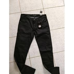 Pantalon Strech Estilo Jean Dama Talla 10 Negro Satinado
