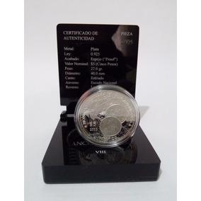Moneda Históricas Iberoamericanas Con Pedestal Y Certificado