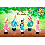 15 Apliques Ou Tags Para Tubetes Princesas Disney Mod.01
