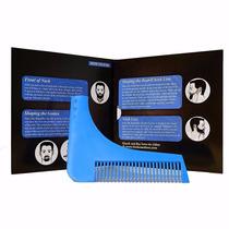 Peine Delineador Para Barba Y Bigote Azul