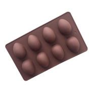 Molde De Silicona Huevos De Pascua Clasicos X8 / Lauacu