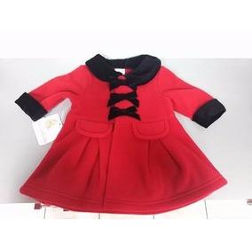 Abrigo Rojo Y Terciopelo Negro Fiesta 3 Y 6 Meses Envio Grat