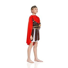 Niños Niños Imperio Romano Halloween Traje Guerrero Gladiad