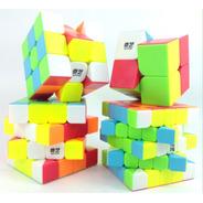 Pack 4 Cubos Tipo Rubik Qiyi 2x2, 3x3, 4x4, 5x5