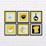 Quadro Decorativo Para Cozinha ( Kit 06 Quadros )