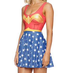 Dc Comics - Vestido Batman Harley Supergirl Mujer Maravilla