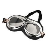Óculos Pilot Goggles Estilo Retro Aviador Moto Motoqueiro