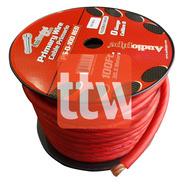 Cable 0 Gauge X Metro +flexible Audiopipe Rojo Libre Oxigeno