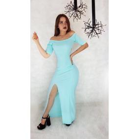 Vestido Color Menta Ropa Mujer A Los Hombros